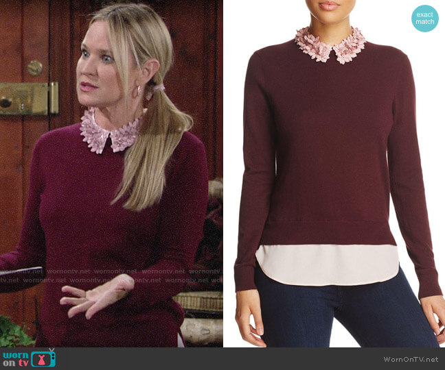 Ted Baker Nansea Sweater worn by Chelsea Lawson (Melissa Claire Egan) on The Young & the Restless
