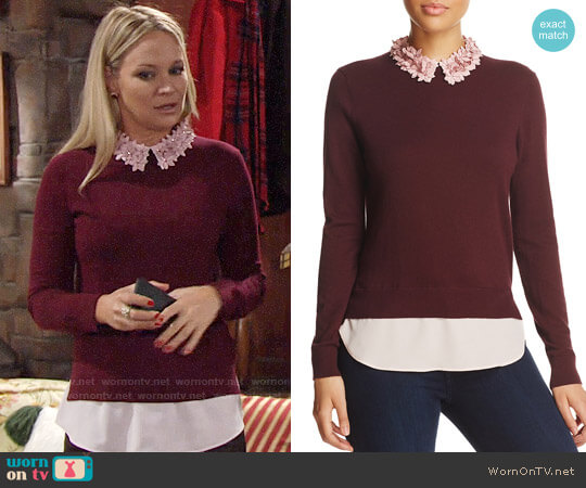 Ted Baker Nansea Sweater worn by Melissa Claire Egan on The Young & the Restless