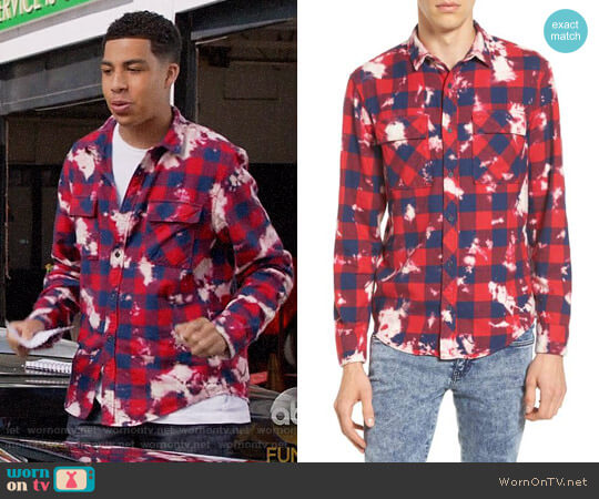The Rail Bleach Plaid Shirt worn by Marcus Scribner on Blackish
