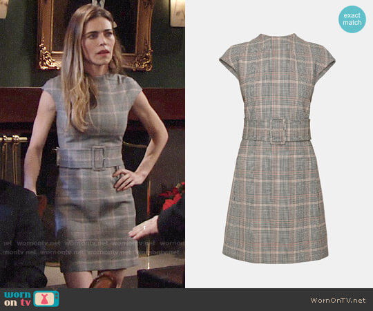 Theory Mod Belt Dress worn by Amelia Heinle on The Young & the Restless