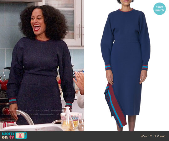 Tibi Jacquard Knit Pullover and Skirt worn by Rainbow Johnson (Tracee Ellis Ross) on Blackish