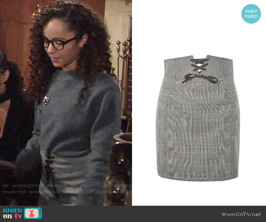 Topshop Corset Lace Up Skirt worn by Lexie Stevenson on The Young & the Restless