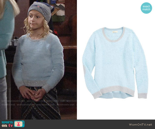 Tucker + Tate Teddy Pullover Sweater worn by Alyvia Alyn Lind on The Young & the Restless