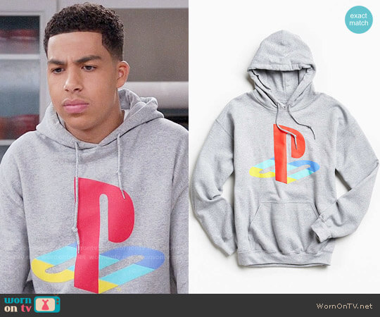 Urban Outfitters PlayStation Hoodie Sweatshirt worn by Marcus Scribner on Blackish