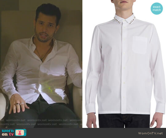 Rockstud Cotton Shirt by Valentino worn by Sam Flores (Rafael de la Fuente) on Dynasty