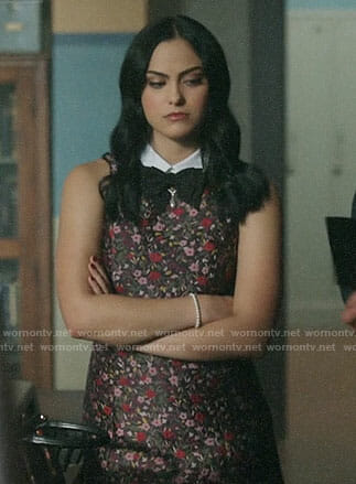 Veronica's floral collared dress on Riverdale