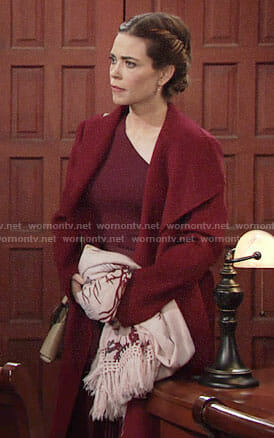 Victoria's floral scarf on The Young and the Restless