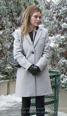 Victoria's grey coat on The Young and the Restless