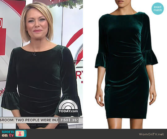 Velvet Bodycon Dress by Vince Camuto worn by Dylan Dreyer  on Today