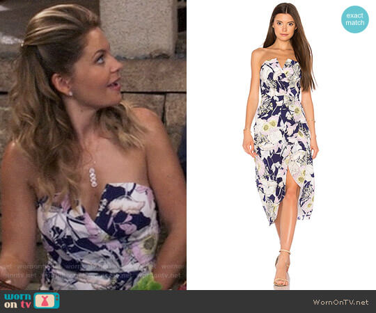 Yumi Kim Glamour Night Midi Dress worn by DJ Tanner-Fuller (Candace Cameron Bure) on Fuller House
