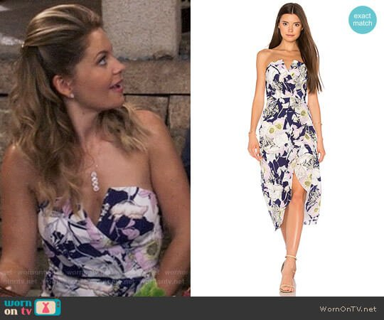 Yumi Kim Glamour Night Midi Dress worn by Candace Cameron Bure on Fuller House