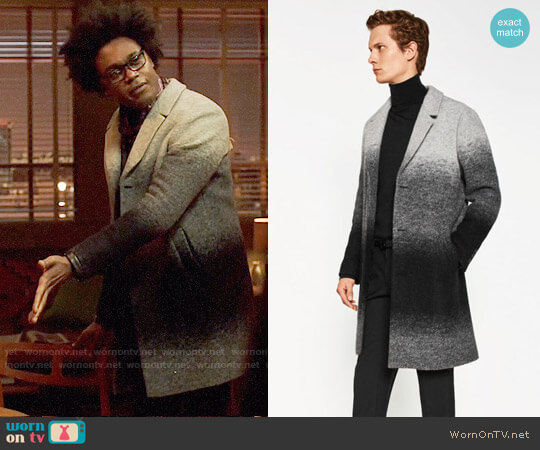 Zara Ombre Coat worn by Echo Kellum on Arrow