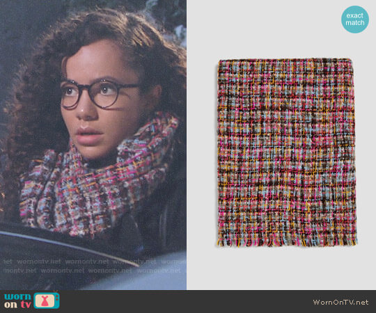 Zara Tweed Effect Scarf worn by Lexie Stevenson on The Young & the Restless