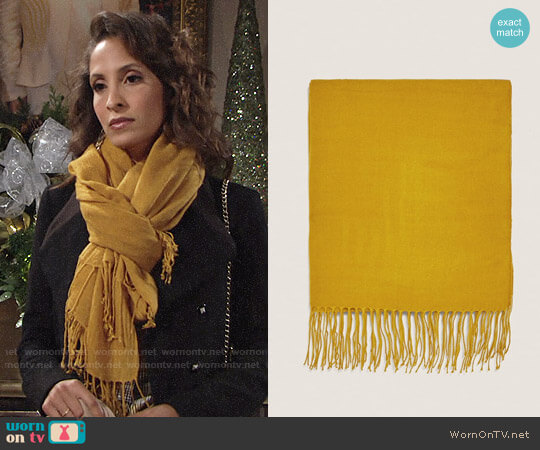 Zara Basic Scarf worn by Christel Khalil on The Young & the Restless