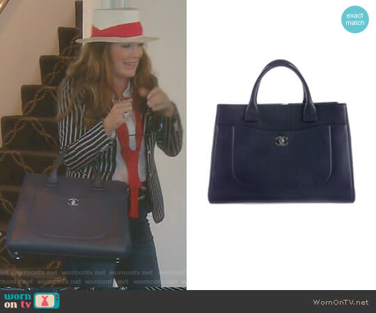 2017 Large Neo Executive Shopping Tote by Chanel worn by Lisa Vanderpump  on The Real Housewives of Beverly Hills
