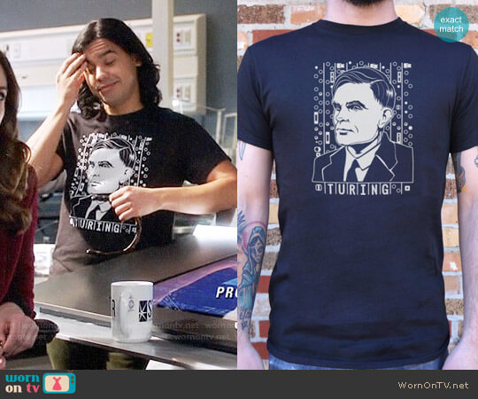 6 Dollar Shirts Alan Turing Tribute T-shirt worn by Cisco Ramon (Carlos Valdes) on The Flash