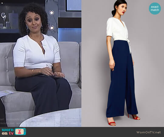 'Aleeix' Jumpsuit by Ted Baker worn by Tamera Mowry on The Real