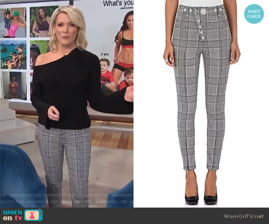 Checked Trousers by Alexander Wang worn by Megyn Kelly on Today