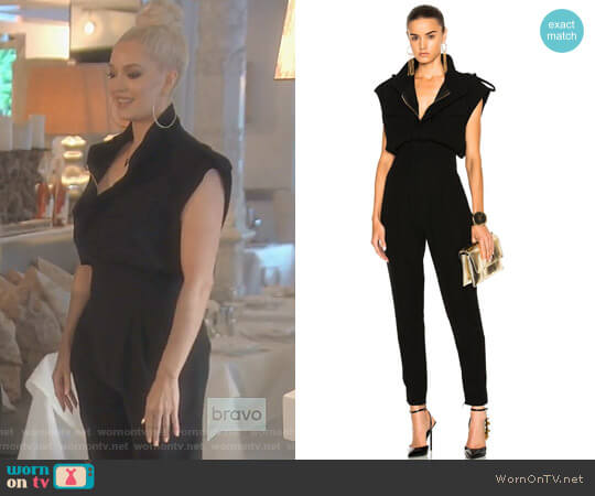 Jumpsuit in Black by Alexandre Vauthier worn by Erika Girardi on The Real Housewives of Beverly Hills