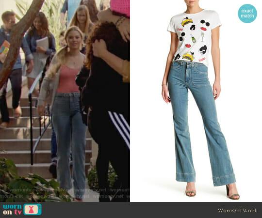 Juno Braided Belt Jean by Alice + Olivia worn by Karolina Dean (Virginia Gardner) on Marvels Runaways