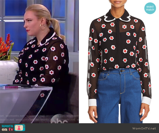 Willa Embellished Top by Alice + Olivia worn by Meghan McCain (Meghan McCain) on The View