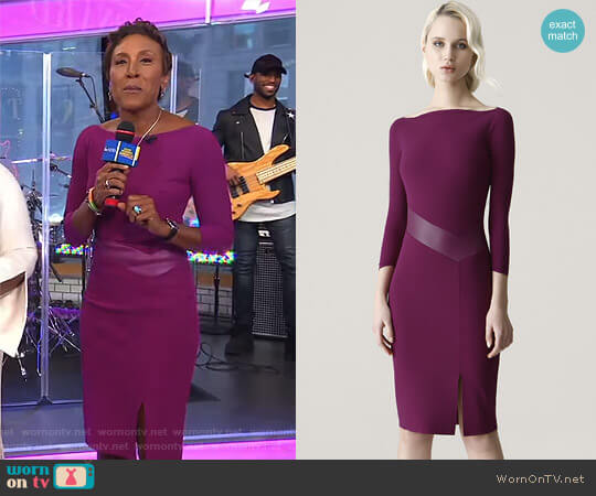 'Alkestis' Dress by Chiara Boni La Petite Robe worn by Robin Roberts  on Good Morning America