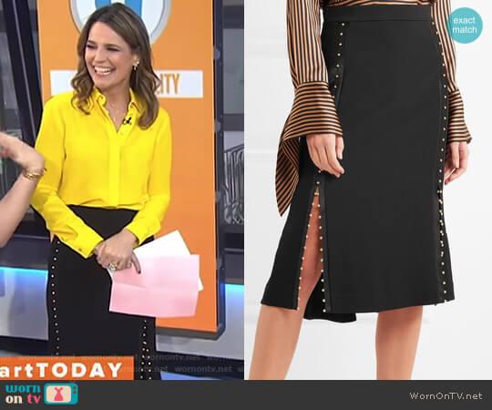 'Welkes' Grommet Detail Skirt by Altuzarra worn by Savannah Guthrie on Today