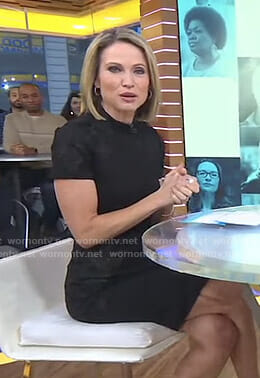 Amy's black lace panel dress on Good Morning America