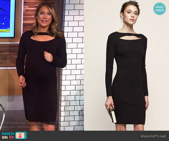 'Audrey' Cut-Away Dress by Reiss worn by Ginger Zee (Ginger Zee) on Good Morning America