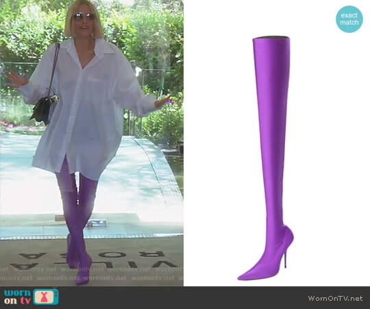 f02abe3e461cf Stretch Pointed-Toe Over-the-Knee Boot by Balenciaga worn by Dorit Kemsley
