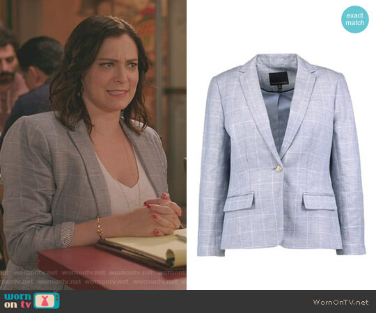 Windowpane Blazer by Banana Republic worn by Rachel Bloom on Crazy Ex-Girlfriend