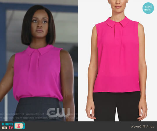 Collared Top by CeCe worn by Skye Marshall on Black Lightning