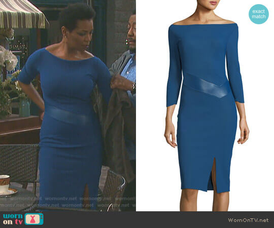 'Alkestis' Dress by Chiara Boni La Petite Robe worn by Valerie Grant (Vanessa Williams) on Days of our Lives