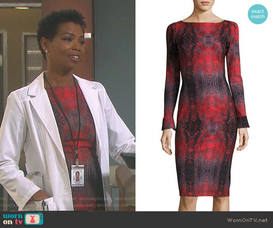 'Darsey' Dress by Chiara Boni La Petite Robe worn by Vanessa Williams on Days of our Lives