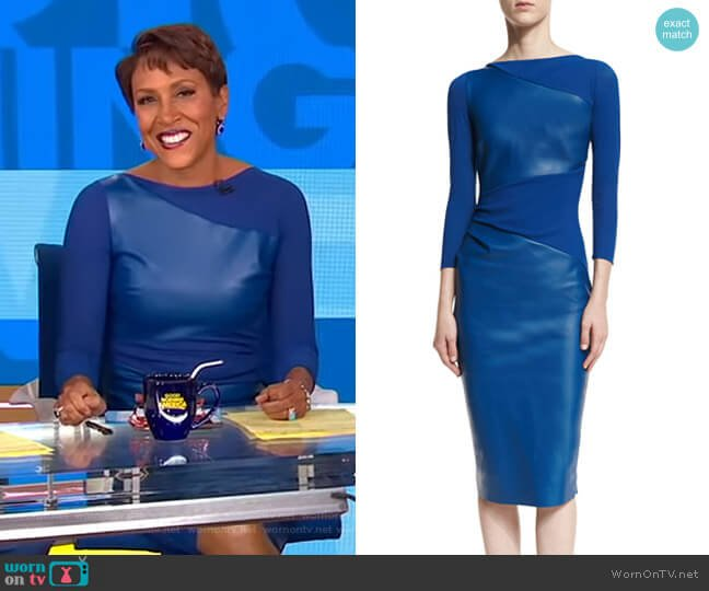 'Malila' Dress by Chiara Boni La Petite Robe worn by Robin Roberts on Good Morning America