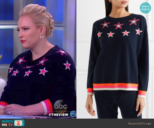 Star cashmere sweater by Chinti and Parker worn by Meghan McCain  on The View