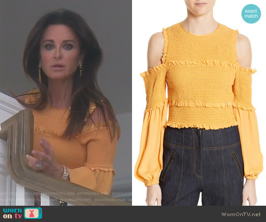 'Pascal' Top in Sienna by Cinq a Sept worn by Kyle Richards  on The Real Housewives of Beverly Hills