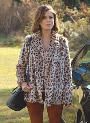 Cristal's leopard coat on Dynasty