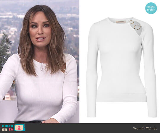 'Sienna' Cutout Top by Cushnie et Ochs worn by Catt Sadler  on E! News