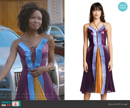 'Gwen' Dress by Delfi Collective worn by Wakeema Hollis on Dynasty