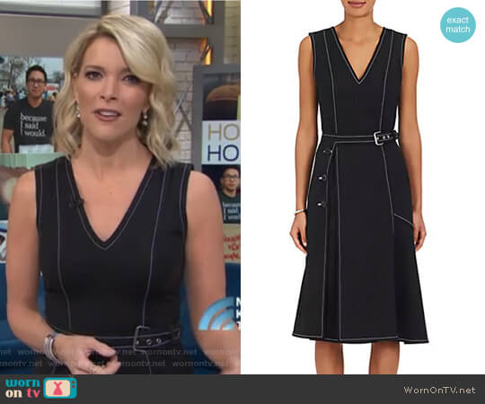 Cotton-Blend Ponte A-Line Belted Dress by Derek Lam worn by Megyn Kelly  on Today