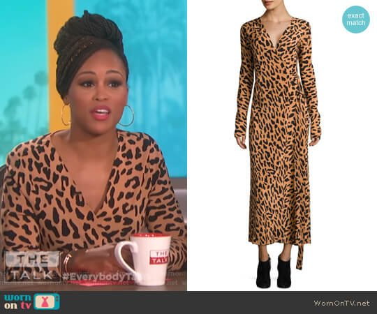 Leopard Silk Wrap Dress by Diane von Furstenberg worn by Eve  on The Talk