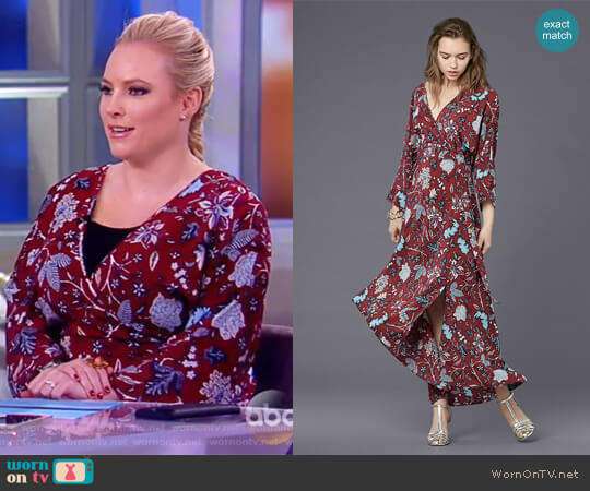 Long Sleeve Asymmetric Hem Dress by Diane von Furstenberg worn by Meghan McCain on The View