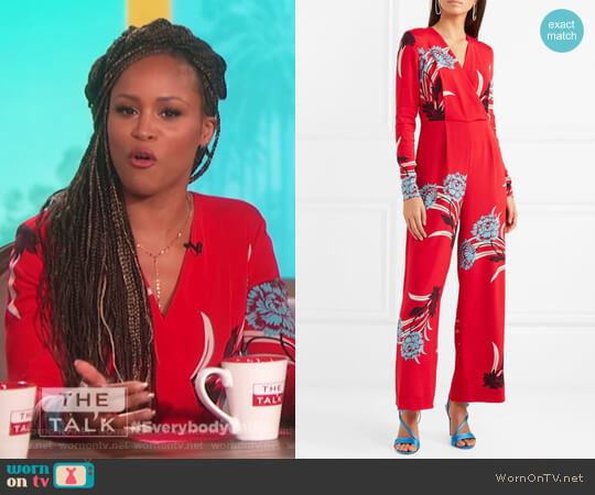 Floral Jumpsuit by Diane von Furstenberg worn by Eve  on The Talk