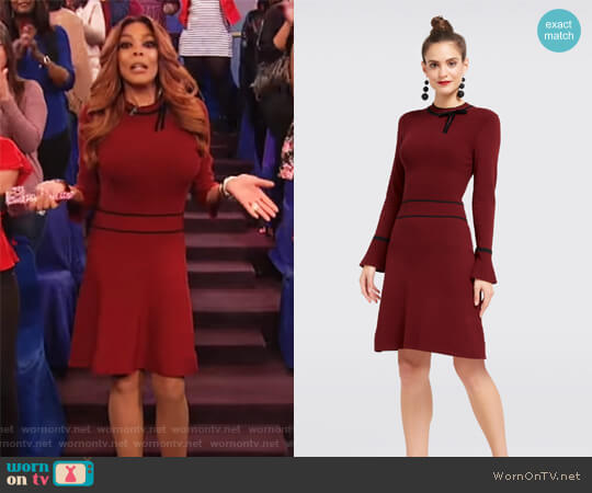 Annabeth Sweater Dress by Draper James worn by Wendy Williams (Wendy Williams) on The Wendy Williams Show