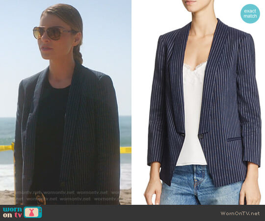 Pinstripe Blazer by Dylan Gray worn by Lauren German on Lucifer