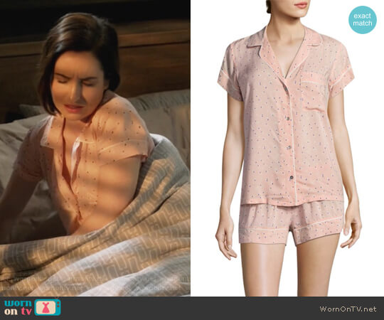 Victoria Pajama Set by Eberjey worn by Jennifer Short (Zoe Lister-Jones) on Life in Pieces