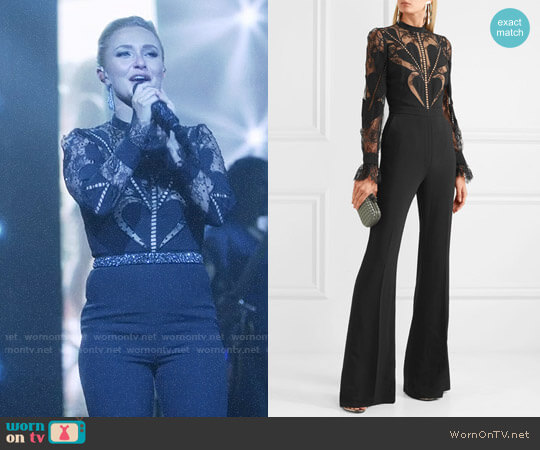 Elie Saab Lace-paneled crepe jumpsuit worn by Hayden Panettiere on Nashville