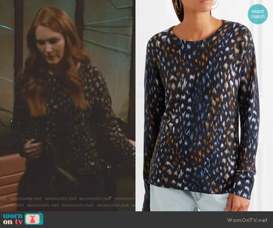 'Sloane' Sweater by Equipment worn by Abby Whelan (Darby Stanchfield) on Scandal
