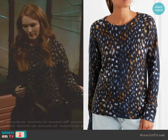 'Sloane' Sweater by Equipment worn by Darby Stanchfield on Scandal